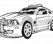 Coloriage Voiture de police Charger