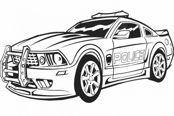 Coloriage Voiture De Police Charger Dessin Gratuit A Imprimer