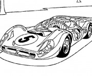 Coloriage Voiture de sport Bugatti cabriolet