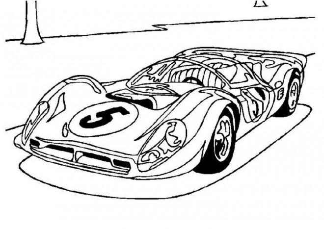 Coloriage et dessins gratuits Voiture de sport Bugatti cabriolet à imprimer