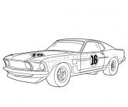 Coloriage et dessins gratuit Voiture de sport Ford à imprimer
