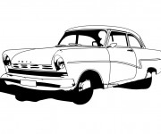 Coloriage et dessins gratuit Voiture Ford classique à imprimer