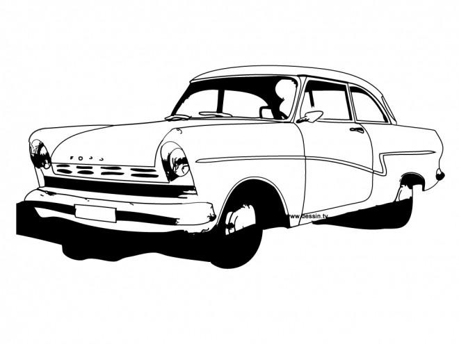 Coloriage et dessins gratuits Voiture Ford classique à imprimer