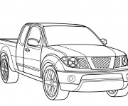 Coloriage Voiture Pick up