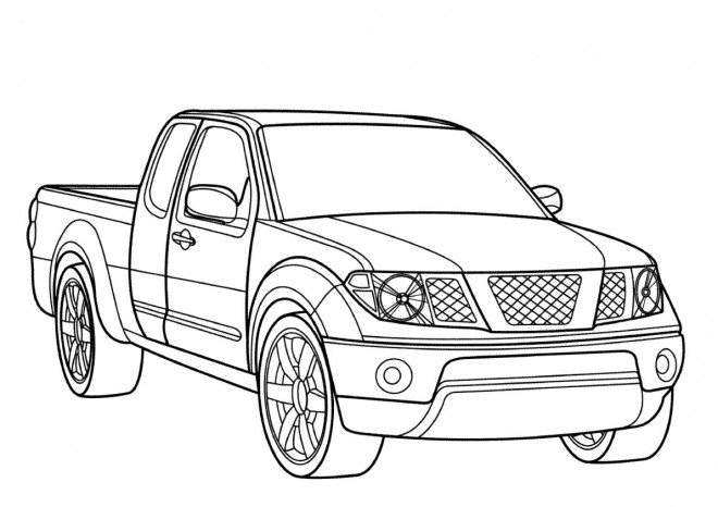 Coloriage voiture pick up dessin gratuit imprimer - Dessin automobile ...