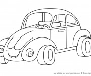 Coloriage Automobile Coccinelle