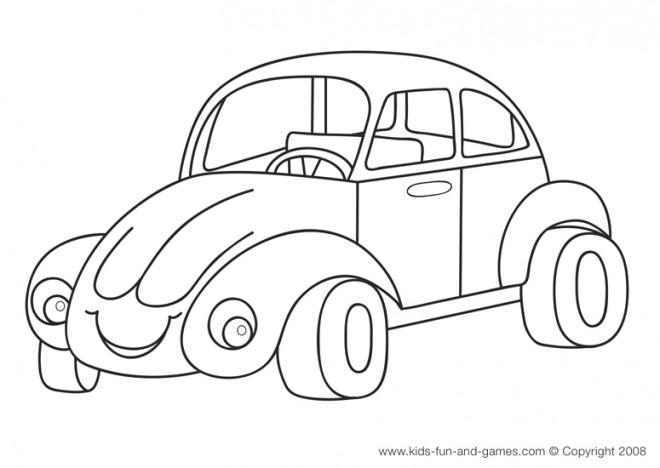 Coloriage et dessins gratuits Automobile Coccinelle à imprimer