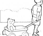 Coloriage et dessins gratuit Enfant et Wagon à imprimer