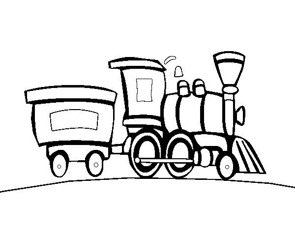 Coloriage Locomotive Et Wagon D Un Train A Vapeur