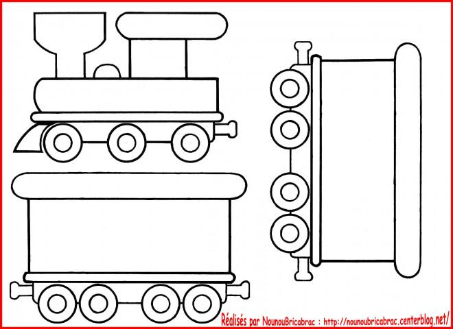 Coloriage et dessins gratuits Locomotive et Wagons à imprimer