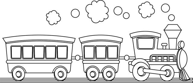 Coloriage train dessin gratuit imprimer - Coloriage train a vapeur ...