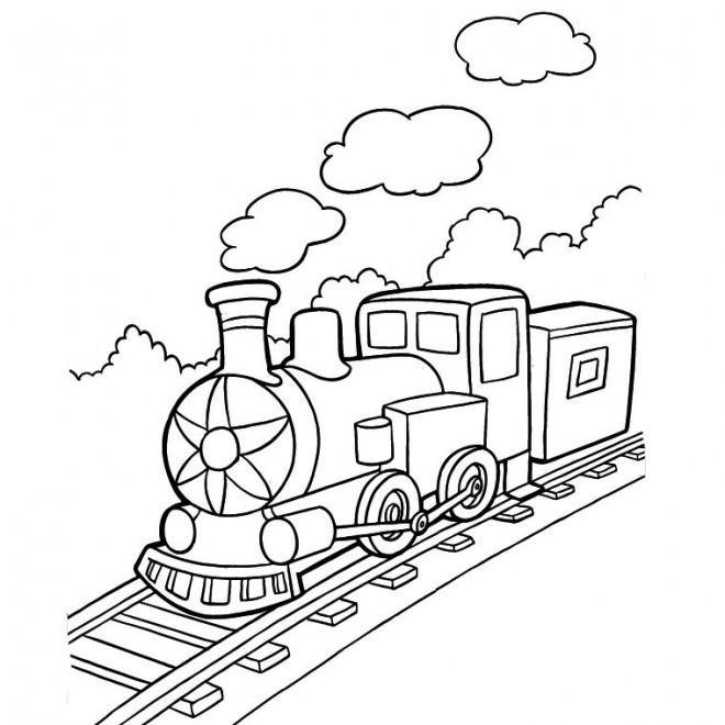 Coloriage train vapeur facile dessin gratuit imprimer - Coloriage train a vapeur a imprimer ...