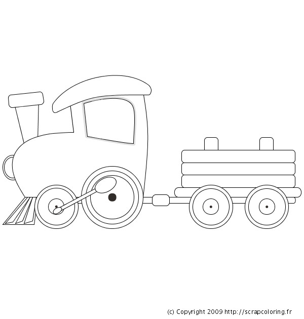 Coloriage Train Facile A Decorer Dessin Gratuit A Imprimer