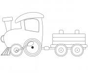 Coloriage Wagon 12