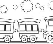 Coloriage Wagon 8