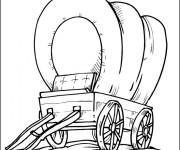Coloriage Wagon à la compagne