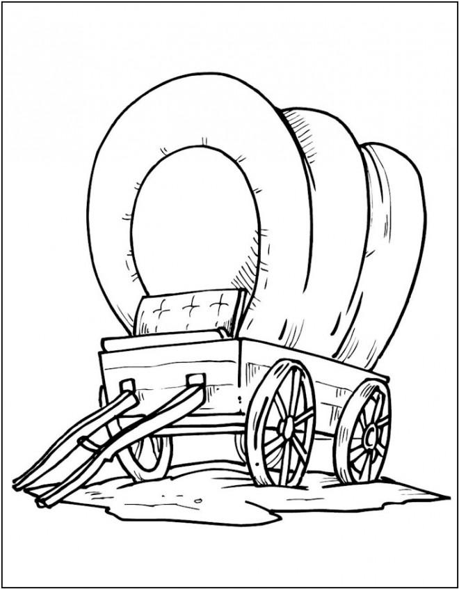 Coloriage et dessins gratuits Wagon à la compagne à imprimer