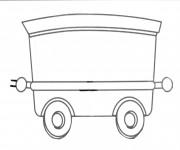 Coloriage et dessins gratuit Wagon couleur à imprimer
