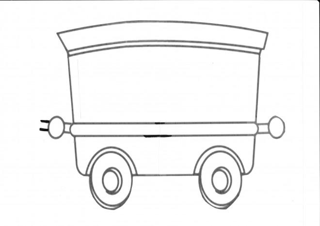 Coloriage wagon couleur dessin gratuit imprimer - Dessin train et wagon ...