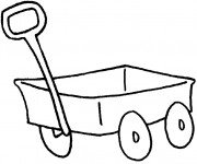 Coloriage Wagon facile