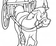Coloriage et dessins gratuit Wagon pour agriculture à imprimer