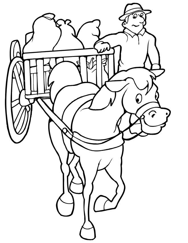 Coloriage et dessins gratuits Wagon pour agriculture à imprimer
