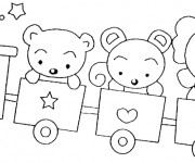 Coloriage et dessins gratuit Wagon pour enfant à imprimer