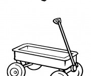 Coloriage Wagon simple
