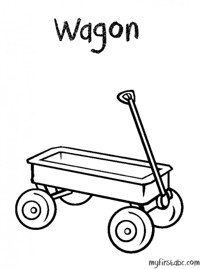 Coloriage et dessins gratuits Wagon simple à imprimer